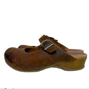 Dansko Clogs Slip On Leather Brown 40/9-9.5